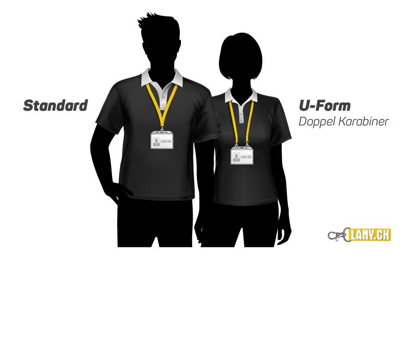 Lanyard Standard und U-Form